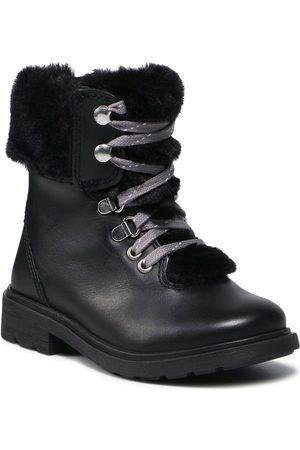 Clarks Bottes de randonnée - Astrol Hiker T 261616806 Black Leather