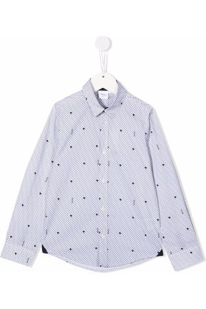 BOSS Kidswear Star-print cotton shirt