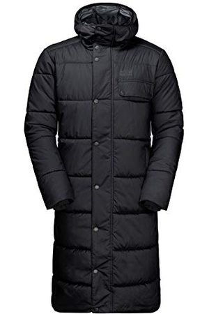 Jack Wolfskin Kyoto Coat Homme Mantel, Black, FR : M (Taille Fabricant : M)