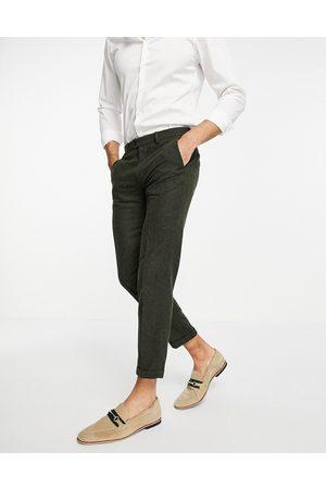 JACK & JONES Premium - Pantalon de costume moucheté - Kaki
