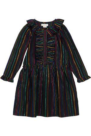 Stella McCartney Robe rayée en coton mélangé