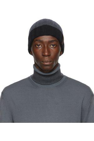 Ermenegildo Zegna Homme Bonnets - Bonnet gris en maille côtelée