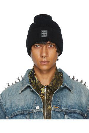 Givenchy Homme Bonnets - Bonnet noir à ferrure à logo
