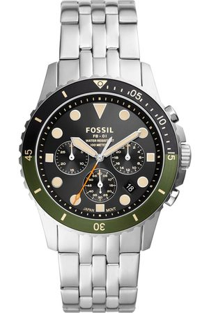 Fossil Homme Montres - Montre - Chrono FS5864 Silver/Black/Green