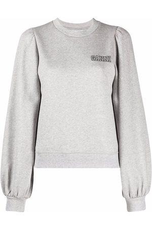 Ganni Puff sleeve sweatshirt