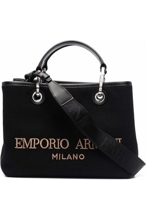 Emporio Armani Felt-logo small tote bag