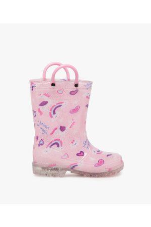 Gémo Bottes de pluie fille pailletées motif licorne avec anses