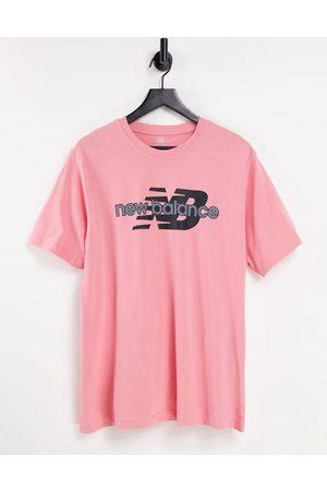 New Balance T-shirt à grand logo - et vert - Exclusivité ASOS