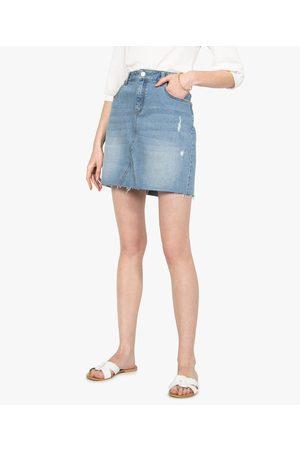 Gémo Jupe femme en jean avec marques d'usure