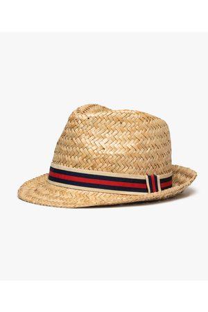 Gémo Homme Chapeaux - Chapeau homme en paille avec bande tricolore