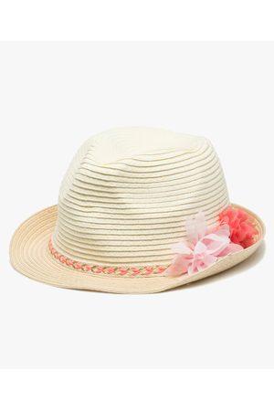 Gémo Chapeau fille avec ruban tressé et fleurs en relief