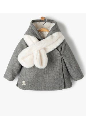LuluCastagnette Manteau bébé fille avec écharpe douce - Lulu Castagnette