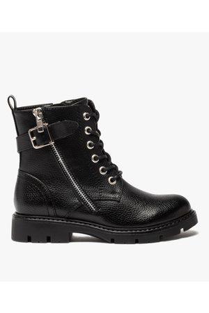 Gémo Boots fille à lacets style rock fermeture zippée