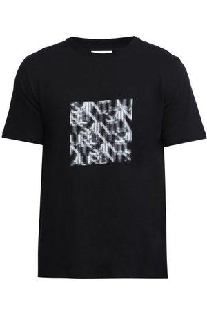 Saint Laurent T-shirt en jersey de coton à imprimé logo abstrait