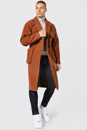 Boohoo Manteau long style utilitaire avec ceinture Homme