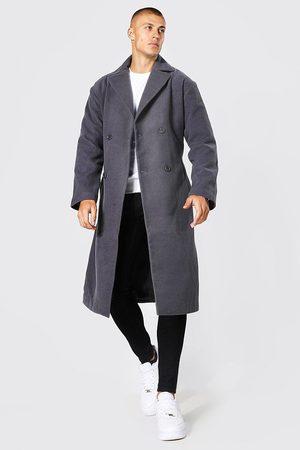 Boohoo Manteau long croisé avec empiècement matelassé Homme
