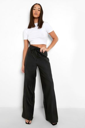 Boohoo Pantalon Large En Similicuir À Cordon De Serrage