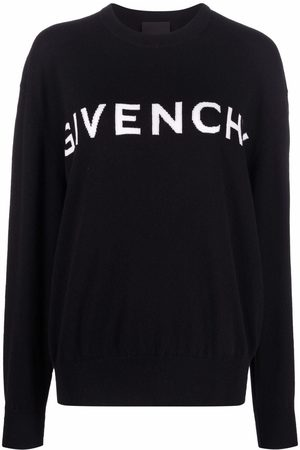 Givenchy Crew-neck logo intarsia-knit jumper