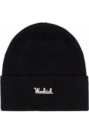 Woolrich Embroidered-logo ribbed-knit beanie
