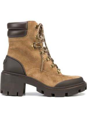 Tory Burch Hiker lug-sole suede ankle boots