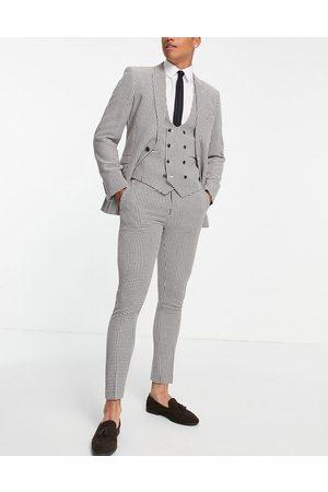 ASOS Pantalon de costume super skinny à motif pied-de-poule