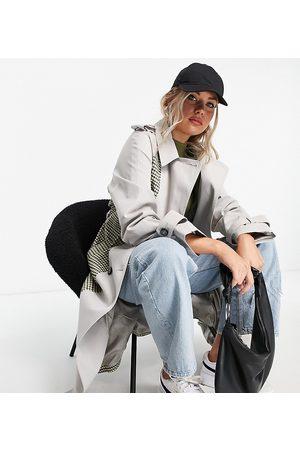 ASOS ASOS DESIGN Tall - Trench-coat à carreaux effet divisé