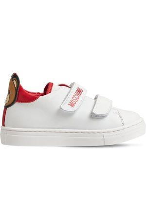 "MOSCHINO Sneakers À Scratch En Cuir ""teddy Bear"""