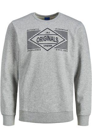 JACK & JONES Envers Bouclé Logo Sweat-shirt Men grey