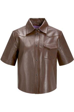 JACK & JONES Homme Shorts - Jxlark Short Leather Chemise Women brown