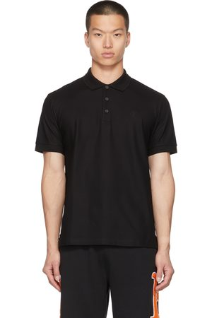 Burberry Polo noir à monogramme