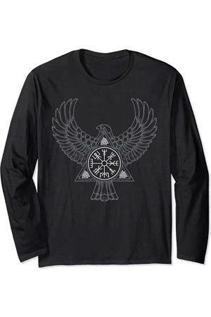 Norse Mythology Vikings Runes Symbols Gift Ideas Corbeau Viking Symboles Compas Vegvisir Rune Nordique Manche Longue