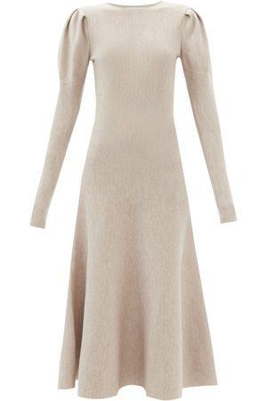 GABRIELA HEARST Robe manches bouffantes en laine mélangée Hannah