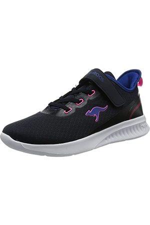 KangaROOS Femme Chaussures - KL-Stick EV, Basket Femme, DK Navy Daisy Pink, 36 EU