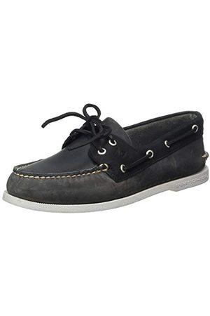 Sperry Top-Sider A/o 2-Eye Leather, Chaussure Bateau Homme, Grey/Black, 48 EU