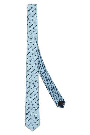 Fendi Homme Cravates - Cravate en soie bleue