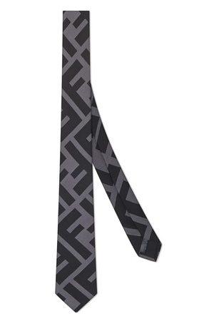 Fendi Cravate en soie noire