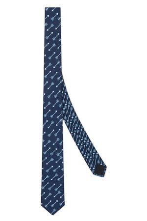 Fendi Cravate en soie bleue