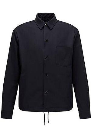 HUGO BOSS Veste style chemise Slim Fit en laine bi-stretch