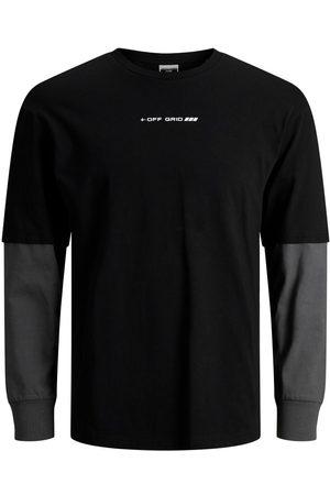 JACK & JONES Deux Couche T-shirt À Manches Longues Men Black; Brown