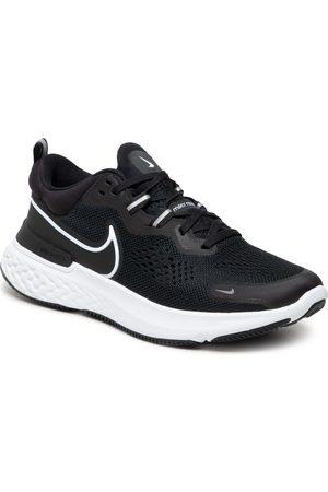 NIKE Femme Chaussures - Chaussures - React Miler 2 CW7136 001 Black/White/Smoke Grey