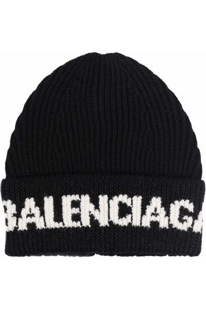 Balenciaga Bonnet à logo intarsia