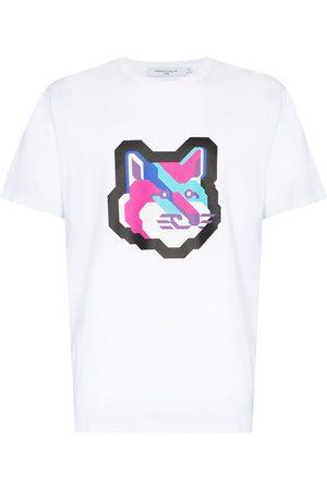 Maison Kitsuné Pixel Fox print T-shirt