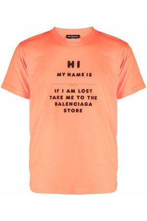 Balenciaga T-shirt à slogan imprimé