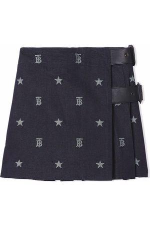 Burberry Jupe Japanese en jean à motif monogrammé