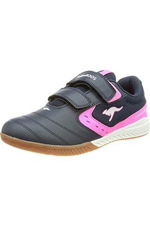 KangaROOS Femme Chaussures - K5-Court V, Basket Femme, Marine Fluo foncé, 38 EU