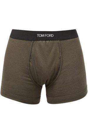 Tom Ford Boxer en jersey de coton mélangé à jacquard logo