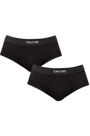 Tom Ford Homme Boxers - Ensemble de deux slips en coton mélangé