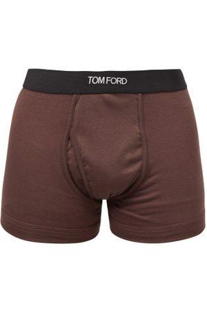 Tom Ford Boxer en coton mélangé à jacquard logo