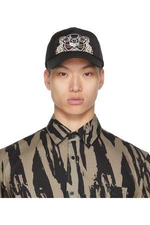Kenzo Homme Casquettes - Casquette Kampus noire en toile à logo de tigre