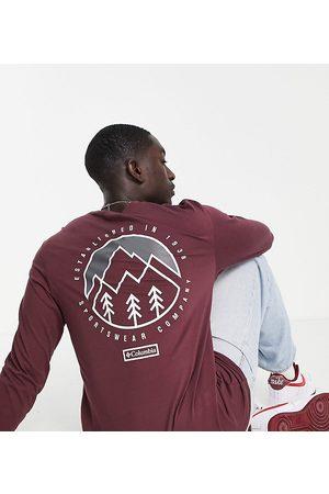 Columbia Cades Cove - T-shirt manches longues - Bordeaux - Exclusivité ASOS